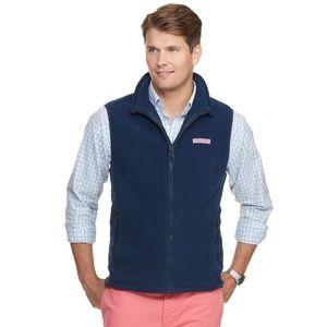 VINEYARD VINES Blue Fleece Harbor Vest XL